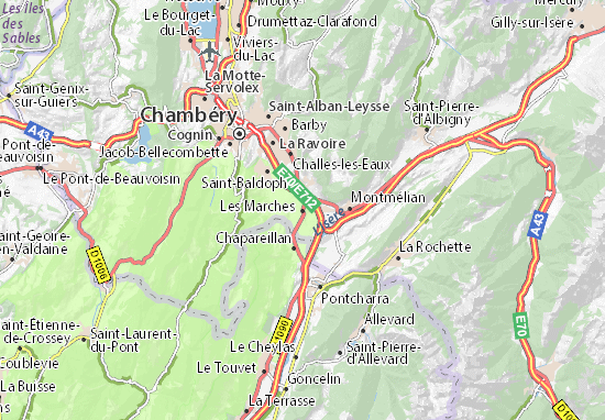 Les Marches Map Detailed Maps For The City Of Les Marches
