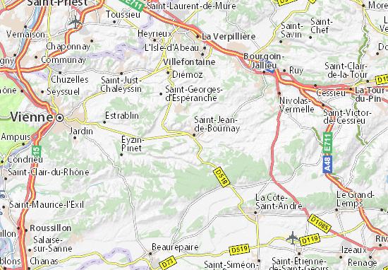 Carte-Plan Saint-Jean-de-Bournay