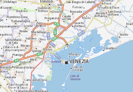 Michelin Aeroporto Venezia Marco Polo Map Viamichelin