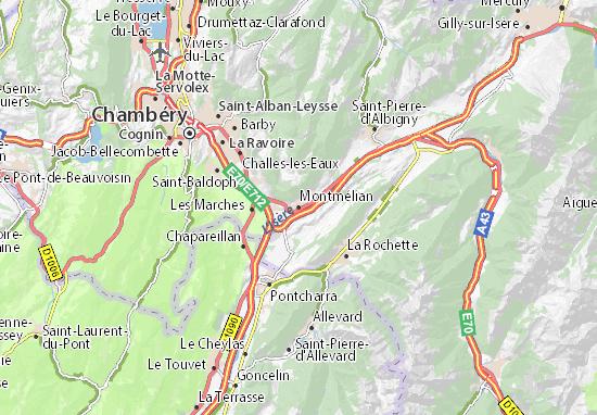 Kaart Plattegrond Montmélian