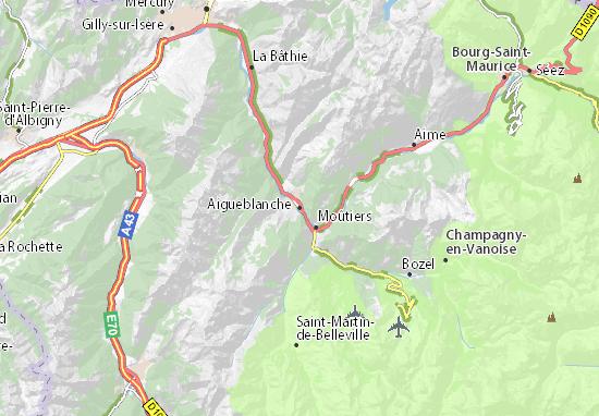 Kaart Plattegrond Aigueblanche