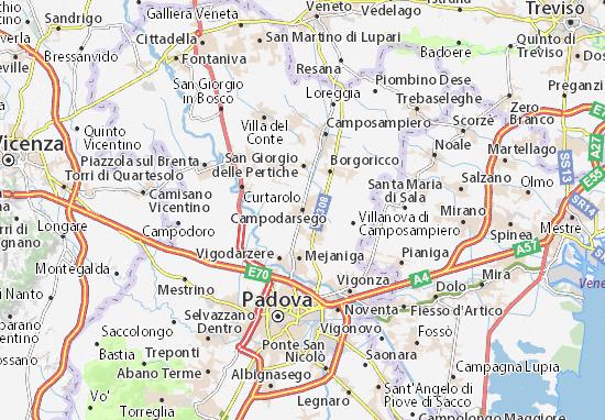 Karte Stadtplan Campodarsego