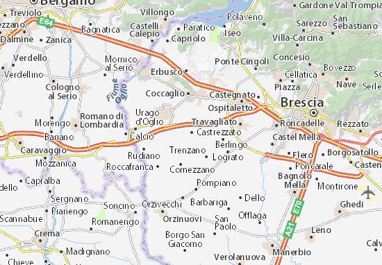 Castrezzato Map