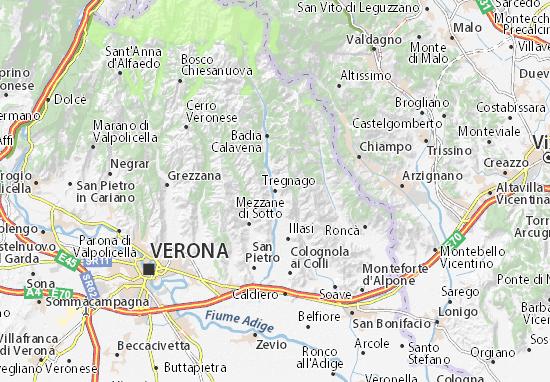 Tregnago Map