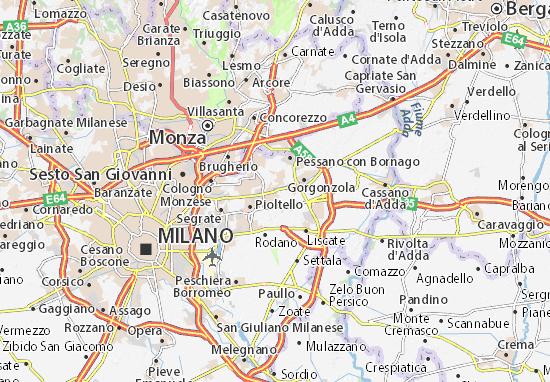 Kaart Plattegrond Cassina de' Pecchi