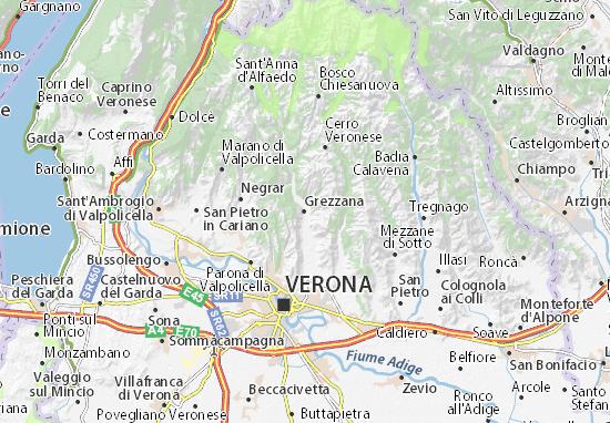 Grezzana Map