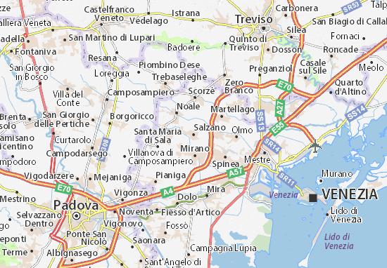 Mapa Plano Salzano