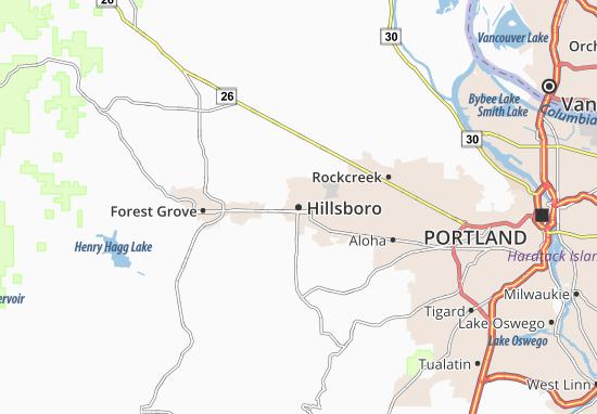 Mapa Hillsboro