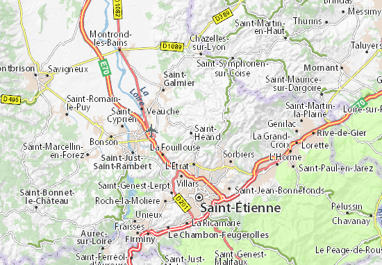Carte-Plan Saint-Héand