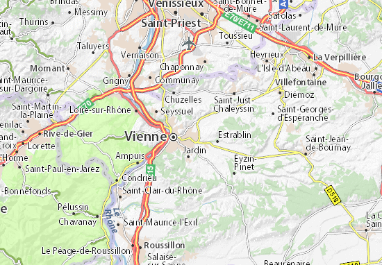 Kaart Plattegrond Pont-Évêque