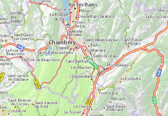 Carte-Plan Saint-Baldoph
