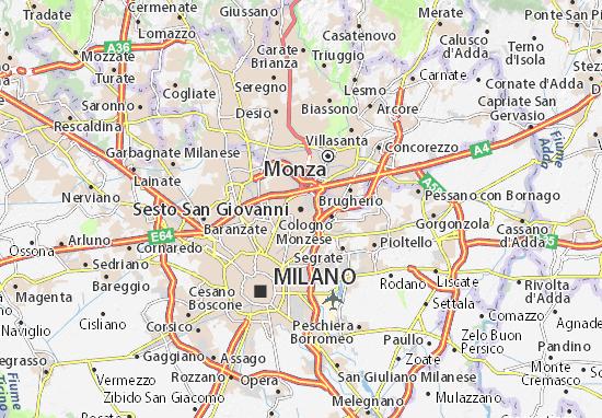 Mapas-Planos Sesto San Giovanni