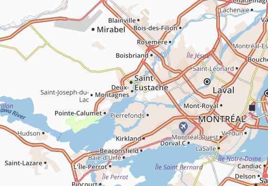 Deux-Montagnes Map
