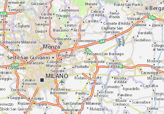 Bussero Map