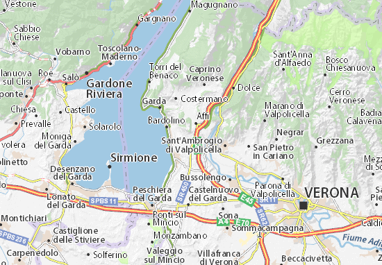 Cavaion Veronese Map