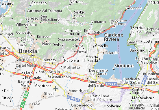 Calvagese della Riviera Map