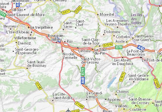 Mapa Plano Saint-Victor-de-Cessieu