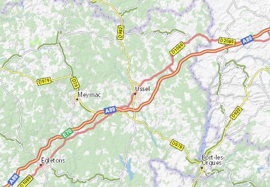 Ussel Map
