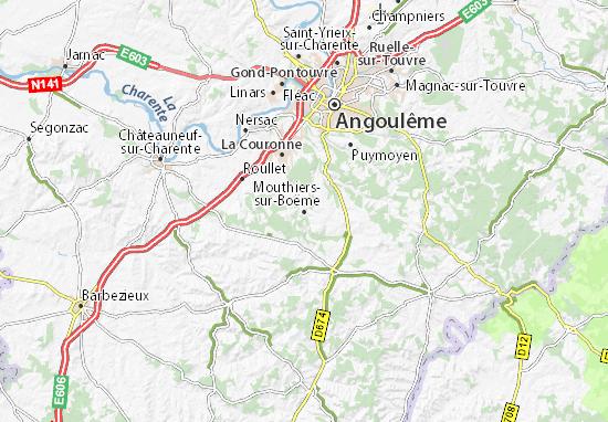 Carte-Plan Mouthiers-sur-Boëme
