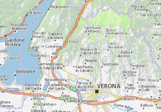Carte-Plan Marano di Valpolicella