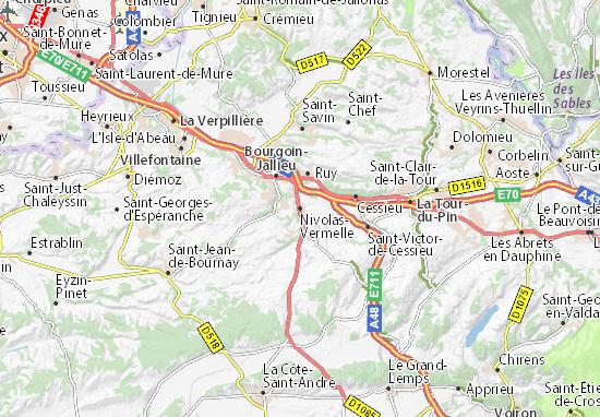 Nivolas-Vermelle Map