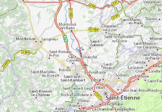 Karte Stadtplan Veauche