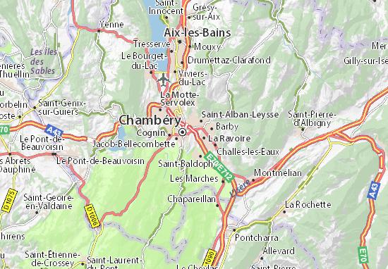 Barberaz Map