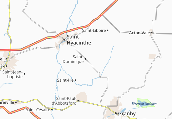 Saint-Dominique Map: Detailed maps for the city of Saint-Dominique on
