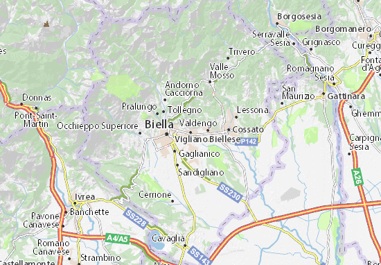 Carte-Plan Vigliano Biellese