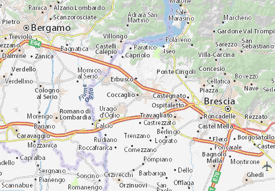 Karte Stadtplan Coccaglio