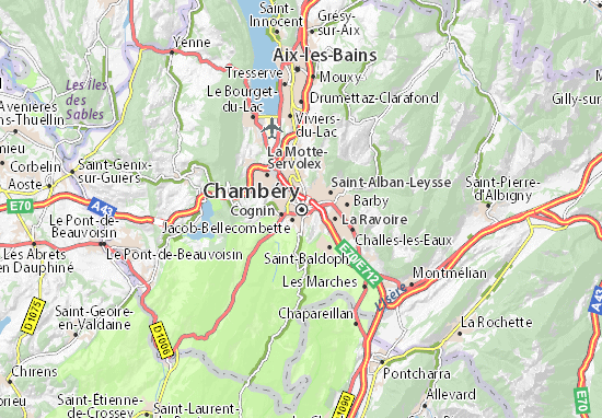 Chambéry Map