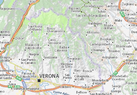 Kaart Plattegrond Badia Calavena