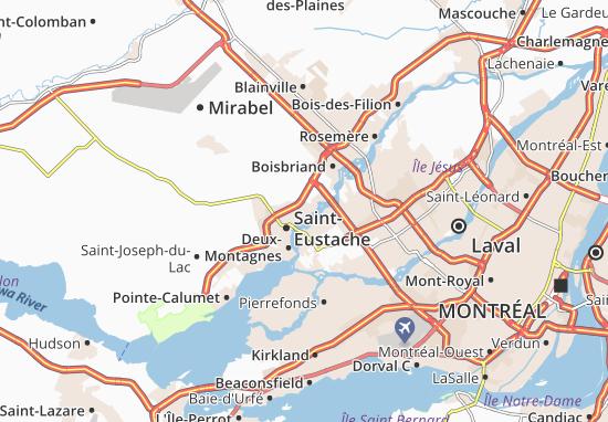Carte-Plan Saint-Eustache