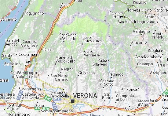 Carte-Plan Cerro Veronese