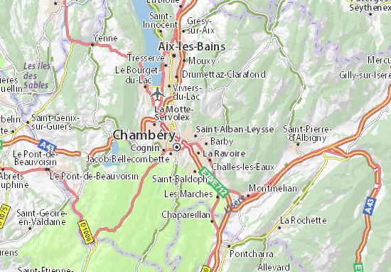 Mapa Plano Saint-Alban-Leysse