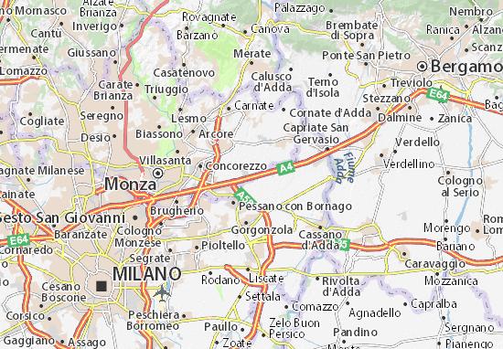 Cartina Brianza Lombardia.Mappa Michelin Cavenago Di Brianza Pinatina Di Cavenago Di Brianza Viamichelin