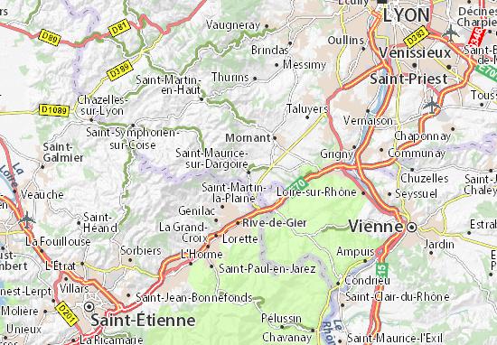 Carte-Plan Saint-Maurice-sur-Dargoire