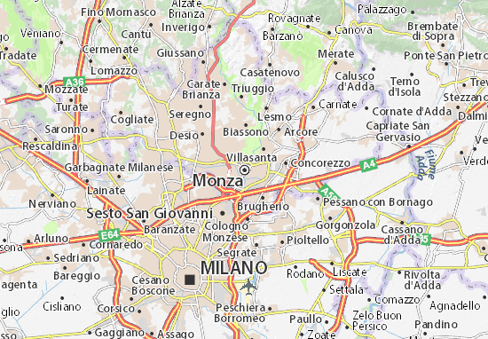 Monza Map Detailed Maps For The City Of Monza Viamichelin