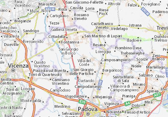 Karte Stadtplan Villa del Conte