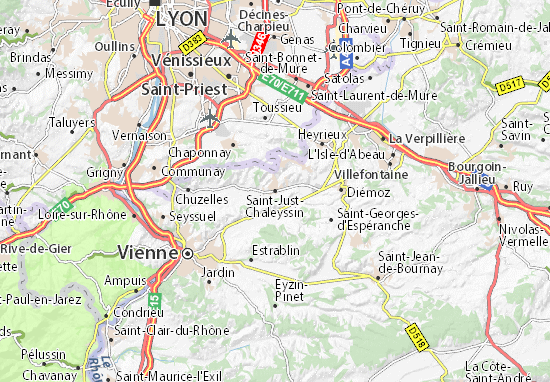 Saint-Just-Chaleyssin Map