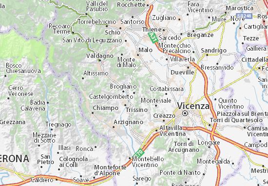Mapas-Planos Castelgomberto
