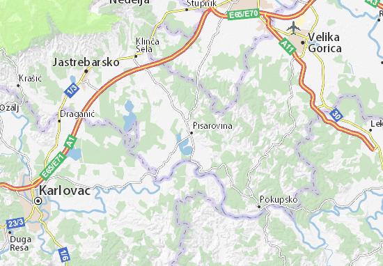 Carte-Plan Pisarovina