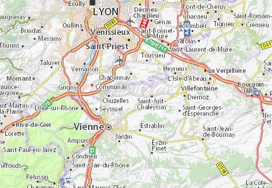 Luzinay Map
