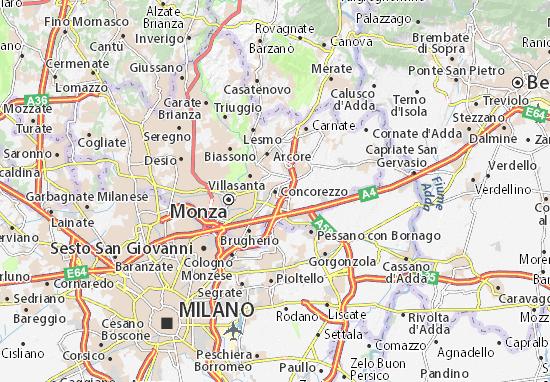 Kaart Plattegrond Concorezzo