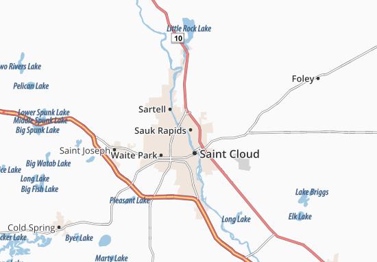 Sauk Rapids Map