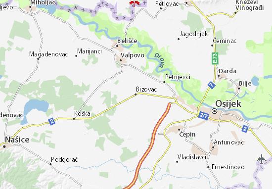 Bizovac Map