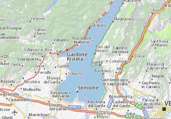 mappa lago di garda cartina lago di garda viamichelin