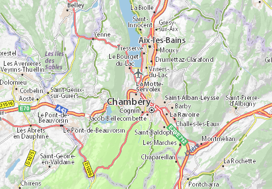 La Motte-Servolex Map