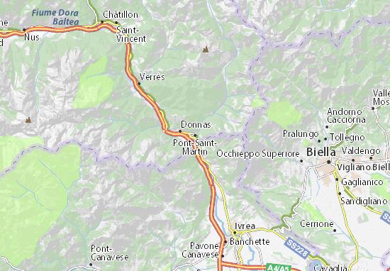 Mappe-Piantine Pont-Saint-Martin