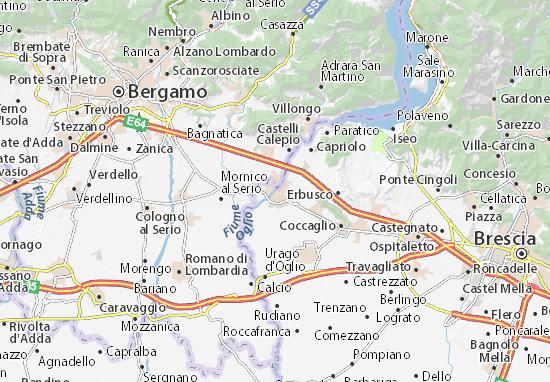 Karte Stadtplan Palazzolo sull'Oglio